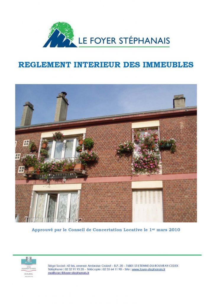 règlement intérieur 2010