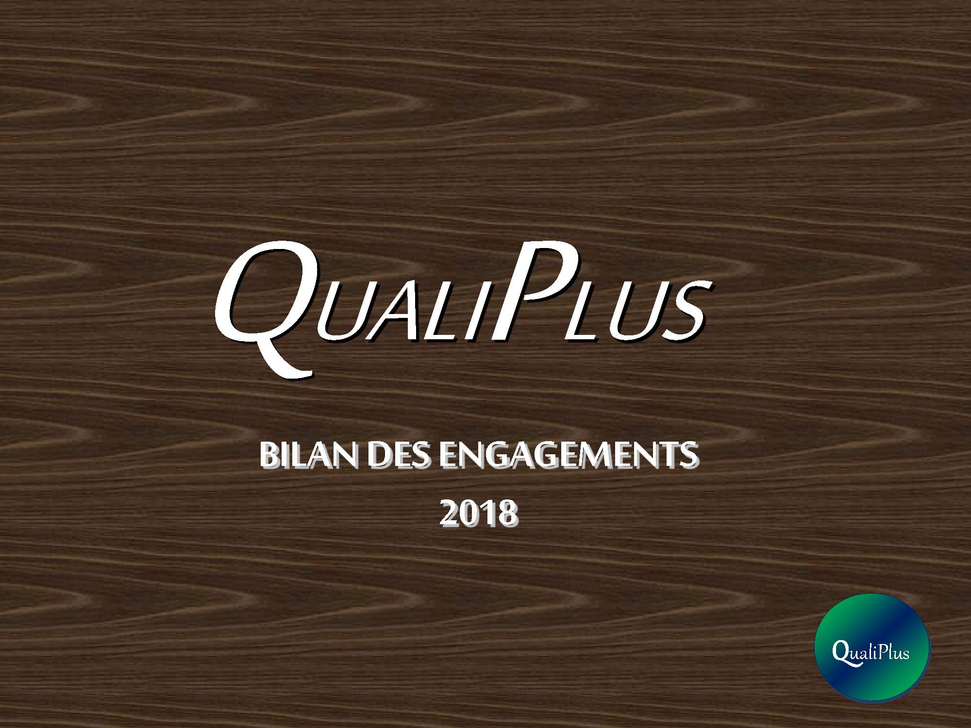 Pages de bilan QUALIPLUS 2018